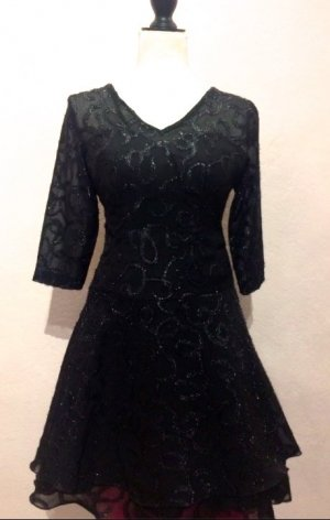 Vestido de noche negro Sintético