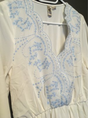 H&M Divided Robe Hippie blanc-bleuet
