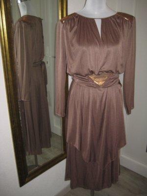 Vintage Kleid Altrose mit Gürtel Gr 40
