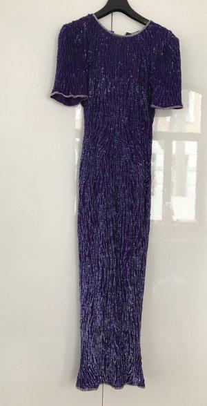 Vintage Kleid aus New York mit Pailletten, Maxikleid