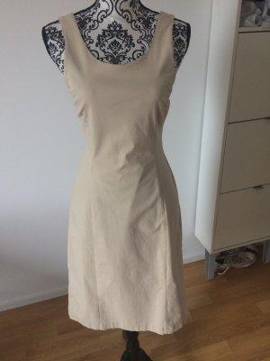 Vintage Kleid beige mit rundem Ausschnitt