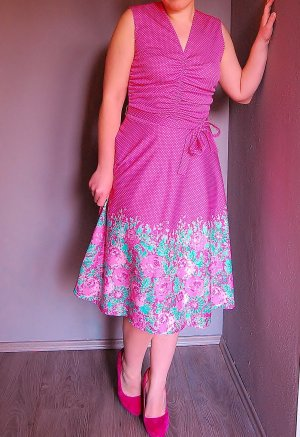 Vintage Kleid Blumenkleid Gr. 38 Rockabilly 60iger Jahre