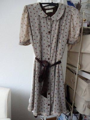 vintage Kleid bubikragen herzchenmotiv