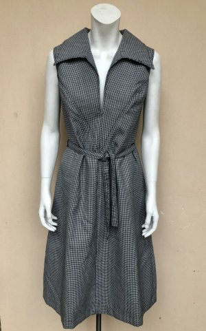 Vintage Kleid Gr. 38/40 Etuikleid ärmellos breiter Hahnentritt Gürtel Skaterkleid Wolle Business