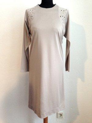 Vintage Kleid in Beige mit Lochstickerei, Gr. 38