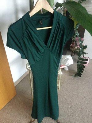 Vestido elástico verde bosque