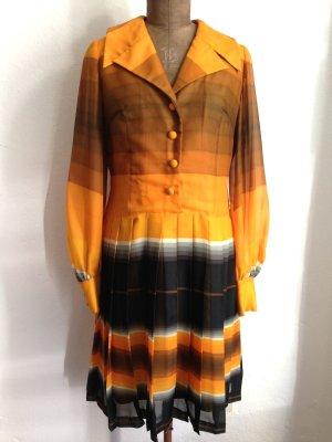 Vintage Kleid mit Faltenrock und Ballonärmeln, Gr. 40