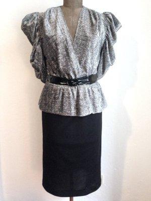 Vintage Kleid mit Lurex Oberteil, Gr. 38 (passt auch Gr. 40)