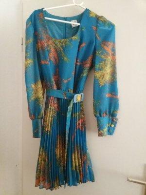 Vintage Kleid mit Plisseerock Futter und Gürtel
