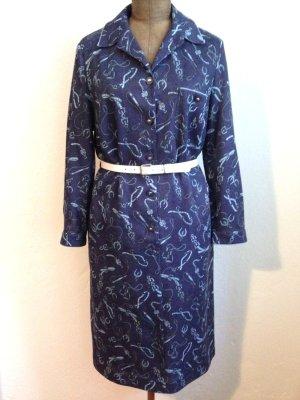 Vintage Kleid mit Reitmotiven, passt Gr. 42/44