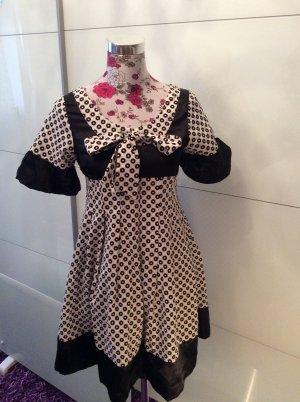 Vintage Kleid mit Schleife mit Etikett 40-42 neu schwarz weiß