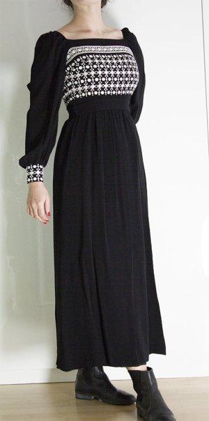 Vestido corte imperio negro-blanco