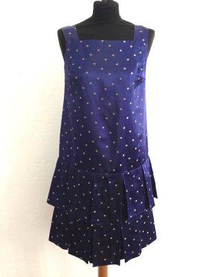 Vintage Kleid mit tief angesetztem Faltenrock, Gr. 36/38