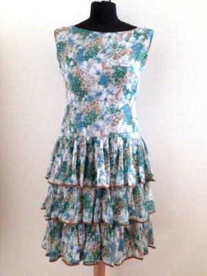 Vintage Kleid mit Volantrock, Gr. 36/schmale 38, original 50'er Jahre