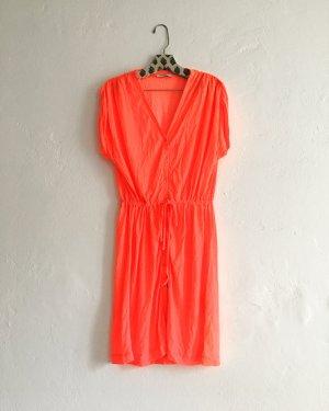 vintage kleid / neon / orange / pop / 80s
