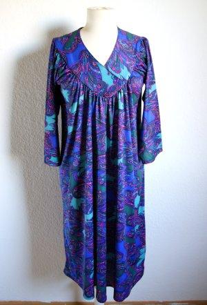 Vintage Kleid Paisley, boho Kleid Paisleymuster, bunt Hippie