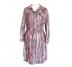 Longsleeve Dress multicolored cotton
