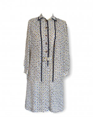 Shortsleeve Dress natural white-blue