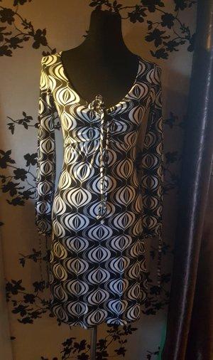 Vintage Kleid - Schwarz/weiss - Amisu - Gr. 36 - 40 - Neu mit Etikett