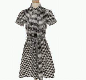 vintage kleid von blanco gr. 40 hahnentrittmuster