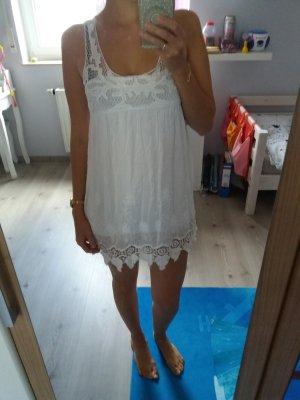 Vintage Kleid weiss Spitze Blogger 34 36 XS S