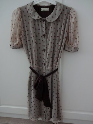 vintage Kleidchen bubikragen herzchenmotiv