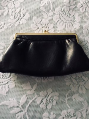 Frame Bag gold-colored-black leather