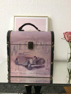 Koffer lila-zwart