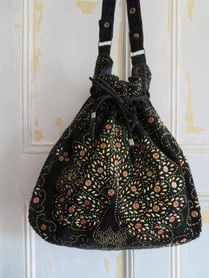 Vintage Sac seau noir coton