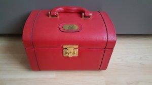 Suitcase dark red