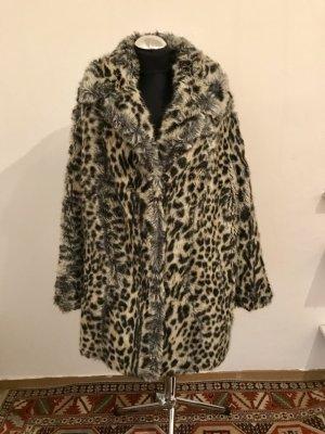 Vintage Kunstfell Faux Fur Leo Mantel Fellmantel