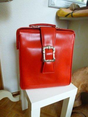 Vintage Kunstleder Tasche Rot