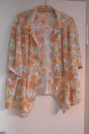 Vintage Kurzarm-Bluse oversized