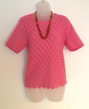 Vintage Kurzarm Pullover gestrickt altrosa Gr. 46/48 Rockabilly