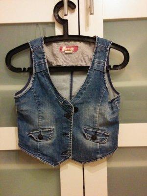 Vintage kurze Jeansweste