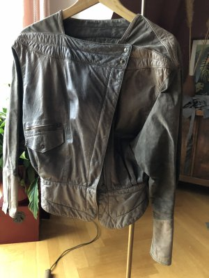 Vintage kurze Lederjacke