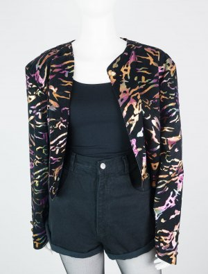 Vintage Kurzjacke mit All-Over-Muster