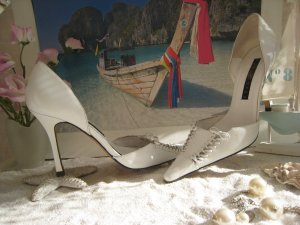 Pura Lopez High Heel Sandal white leather