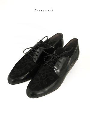 Vintage Lack Leder Schnürer Schnür Halbschuhe Schuhe Paul Green Neu