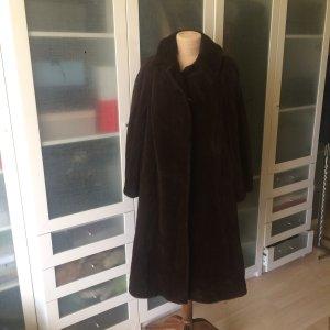 Oversized Coat dark brown fur