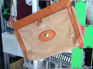 Vintage Leather Bag from Italy
