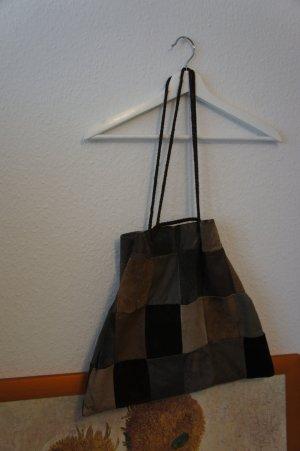 vintage leder beutel patchwork