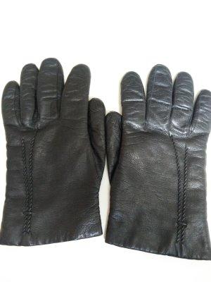 Gants noir cuir