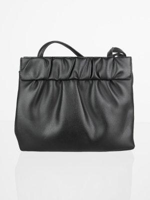 Vintage Leder Handtasche mit Raffungen