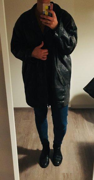 Leather Jacket black-grey