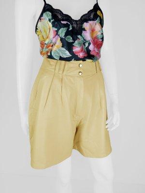 Vintage Leder-Shorts mit hohem Bund