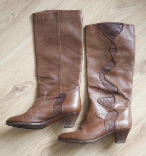 Vintage Leder Stiefel