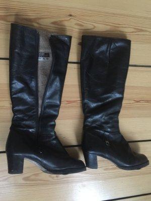 Vintage Leder-Stiefel (gefüttert)!