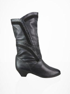 Vintage Leder-Stiefel im Patchwork Design 37