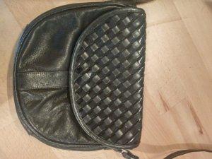 Vintage Leder-und Lackhandtasche